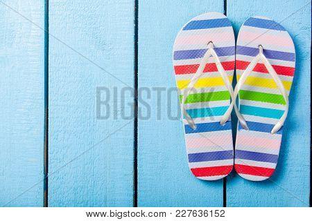 Colorful Flip Flops Shoe
