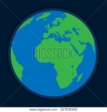 Earth In Space. Illustration For On-line Stores.  Illustration For Presentations. Illustration For A