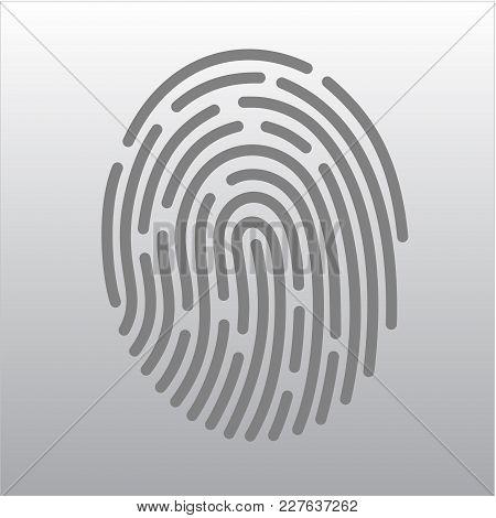 Mobile Application For Recognition Fingerprint. Vector Illustration Eps10 File
