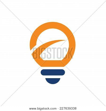 Light Bulb With Improvement Logo. Simple Lightbulb Logo Template, Clean And Simple Logo Template, Su