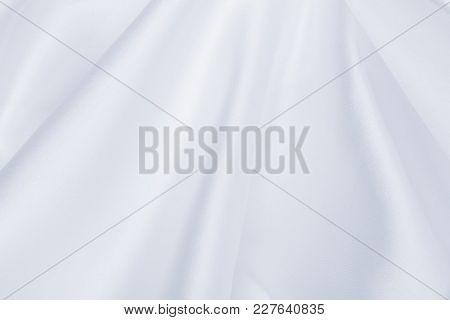 Smooth Elegant Grey Silk Or Satin Luxury Cloth As Wedding Background. Luxurious Christmas Background