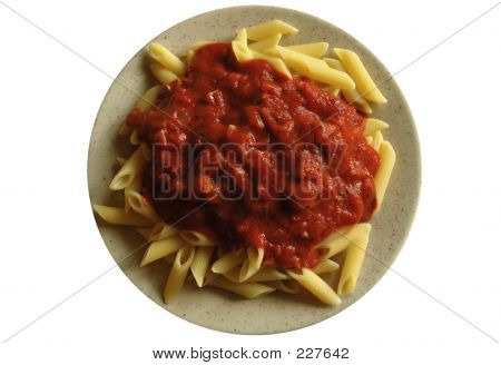 Macaroni Dish (isolated)