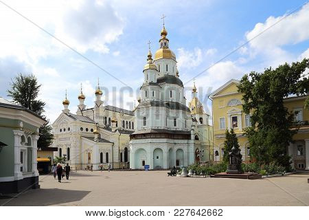 Kharkov, Ukraine - September 6, 2017: These Are The Buildings Of The Temples Of The Holy Protection