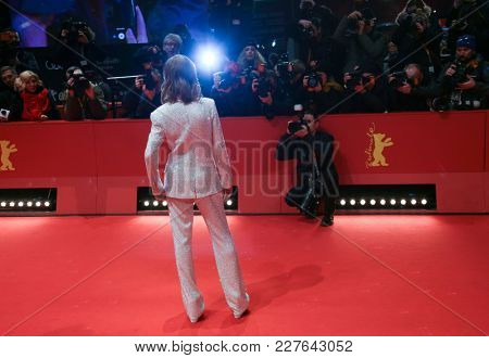 Isabelle Huppert attends the 'Eva' premiere during the 68th l Film Festival Berlin at Berlinale Palast on February 17, 2018 in Berlin, Germany.
