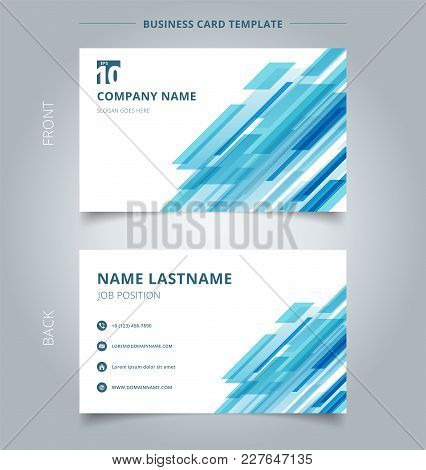 Creative Business Card And Name Card Template Technology Diagonally Overlapped Geometric Squares Sha