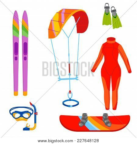 Fun Water Extreme Sport Kiteboarding Surfer Sailing Leisure Sea Activity Summer Recreation Extreme V