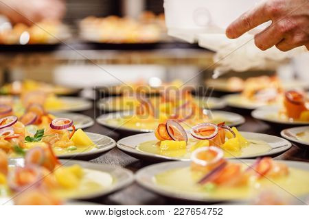 catering food in the restaurant