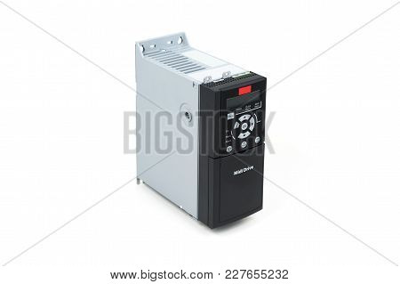 A New Universal Inverter For Controlling The Electric Current And Power For Industrial On A Gray Whi