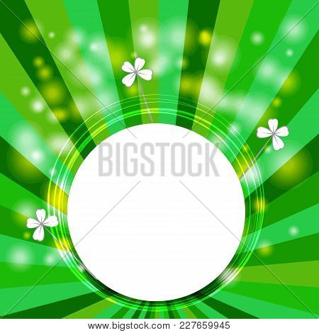 Saint Patrick S Day Backgound. Vector Illustration For Spring Design With Ireland Simbol Clever