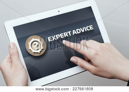 Expert Advice Consulting Service Business Help Concept.