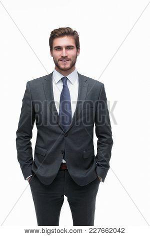 closeup.portrait of a handsome businessman
