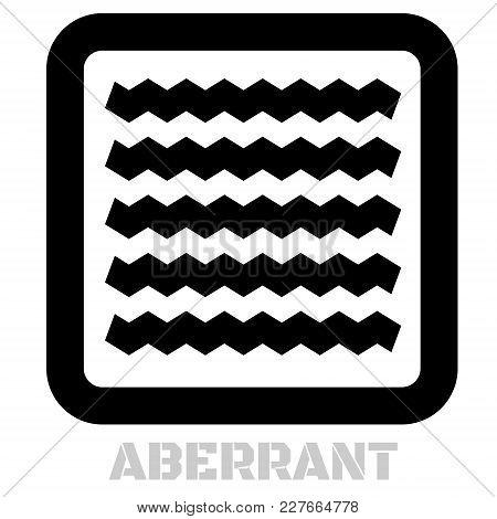 Aberrant Conceptual Graphic Icon. Design Language Element, Graphic Sign.