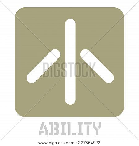 Ability Conceptual Graphic Icon. Design Language Element, Graphic Sign.