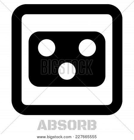 Absorb Conceptual Graphic Icon. Design Language Element, Graphic Sign.