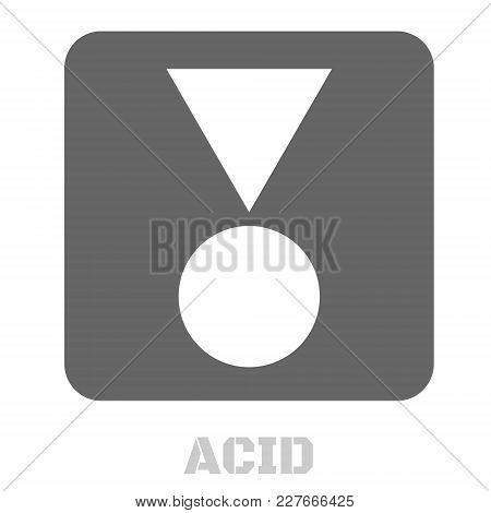 Acid Conceptual Graphic Icon. Design Language Element, Graphic Sign.