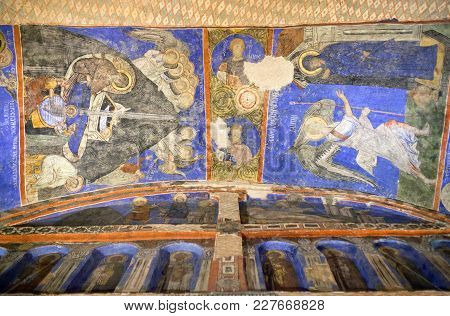 Goreme, Turkey - May 16, 2016: Ancient Mural Painting In Tokali Kilise (church Of The Buckle) In Gor