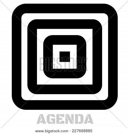 Agenda Conceptual Graphic Icon. Design Language Element, Graphic Sign.