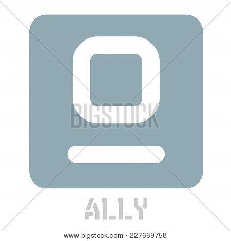 Ally Conceptual Graphic Icon. Design Language Element, Graphic Sign.