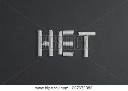 Het - The Russian Word Is The Meaning Of The English Word - No, Made From Slabs Of Cigarette Parts T