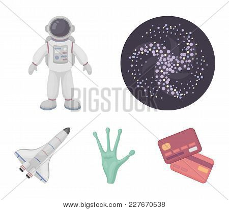 The Alien's Hand, The Space Shuttle Ship Space Shuttle, The Astronaut In The Spacesuit, The Black Ho