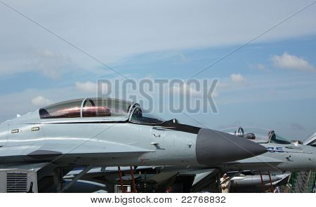 The Nose Of The Military Aircraft