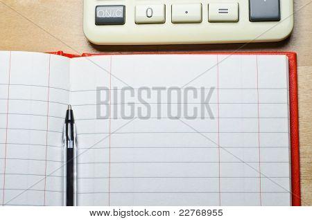 Cash Book And Calculator
