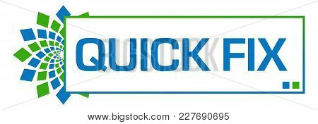 Quick Fix Text Written Over Blue Green Background.