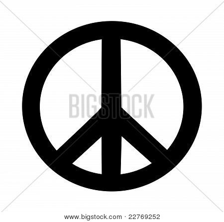 illustration of peace sign on isolated white background