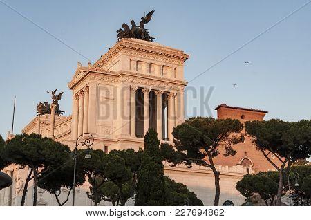The Altare Della Patria, Also Known As The Monumento Nazionale A Vittorio Emanuele Ii Or Vittoriano,