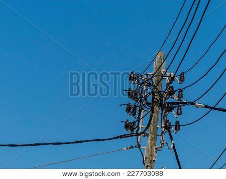 power line in mallorca