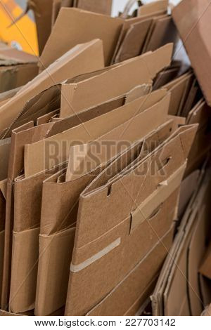 cardboard boxes for the waste paper collection