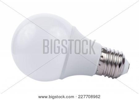 Closeup Light Bulb Isolated On White Background