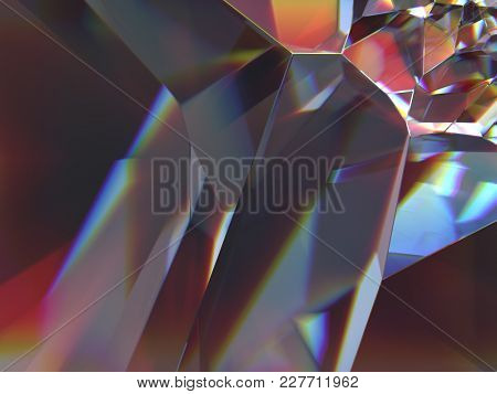 cracked glass, abstract background, 3d illustration