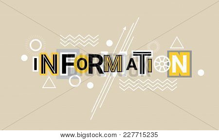 Information And Global Data Technology Web Banner Abstract Template Background Vector Illustration