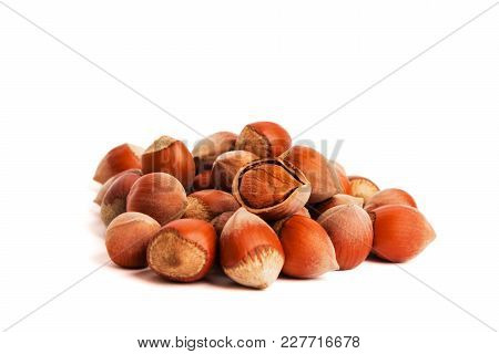 Hazelnuts. Food Background, Photo Wallpaper.