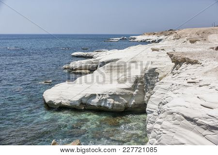 Mediterranean Sea. White Rocks Near Governor's Beach
