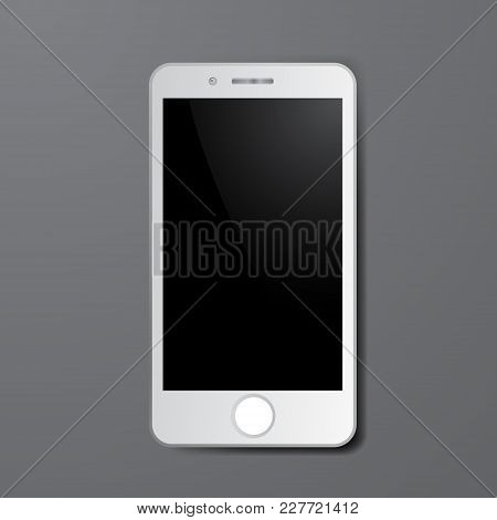 White Smartphone Vector Mockups. Can Use For Printing, Website, Presentation Element. For App Demo O