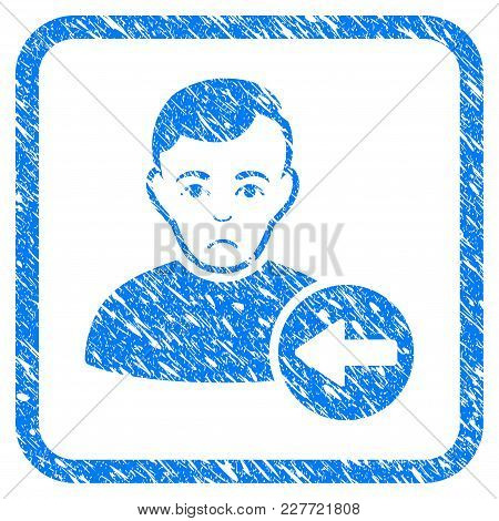 Previous User Rubber Seal Stamp Watermark. Icon Vector Symbol With Grunge Design And Corrosion Textu