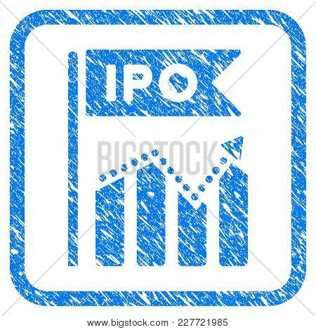 Ipo Chart Rubber Seal Stamp Watermark. Icon Vector Symbol With Grunge Design And Dust Texture Inside