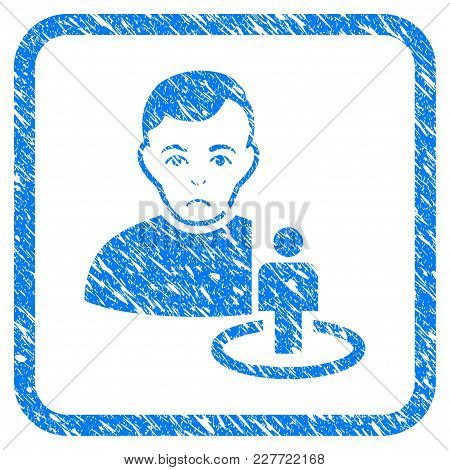 Portal Moderator Rubber Seal Stamp Imitation. Icon Vector Symbol With Grunge Design And Dirty Textur
