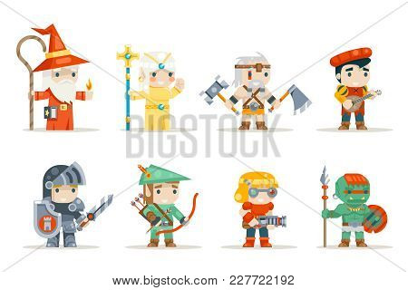 Warrior Mage Elf Priest Archer Barbarian Berseker Bard Tribal Orc Engeneer Inventor Fantasy Rifleman