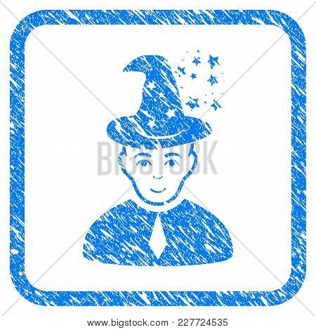 Magic Master Rubber Seal Stamp Imitation. Icon Vector Symbol With Grunge Design And Corrosion Textur