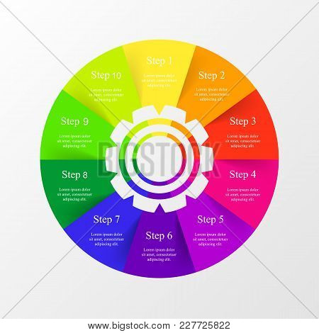 Vector Infographic Template For Diagram, Graph, Presentation And Chart. Business Concept With 10 Opt
