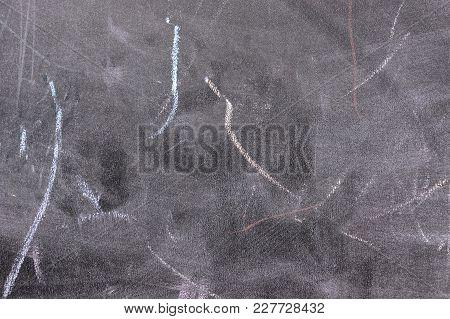 Blackboard. Chalkboard Texture. Chalk Rubbed Out On Blackboard