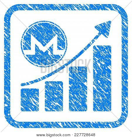 Monero Growth Graph Rubber Seal Stamp Watermark. Icon Vector Symbol With Grunge Design And Corrosion