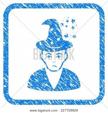 Magic Master Rubber Seal Stamp Watermark. Icon Vector Symbol With Grunge Design And Corrosion Textur