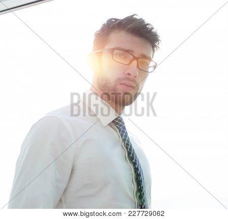 blurry photo of a successful businessman