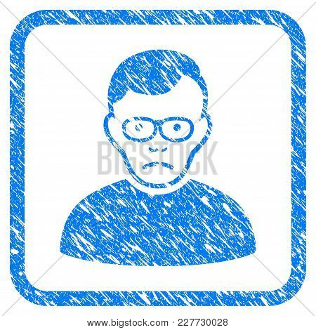 Pensioner Rubber Seal Stamp Imitation. Icon Vector Symbol With Grunge Design And Corrosion Texture I