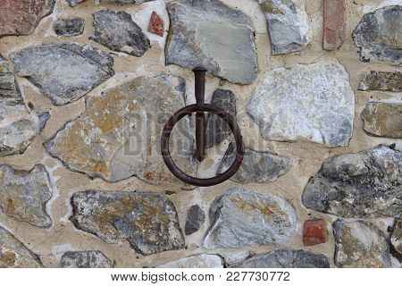 Horse Ring On Wall In Tuscany Italy