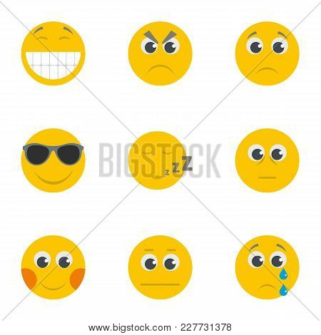 Snarl Icons Set. Cartoon Set Of 9 Snarl Vector Icons For Web Isolated On White Background